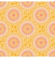 Orange colors dotted circles seamless pattern vector image vector image