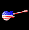 patriot flag guitar vector image