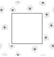 peach cherry blossom outline banner on white vector image vector image