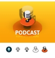 Podcast icon in different style vector image
