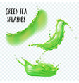 realistic splash of green tea or juice isolated on vector image vector image