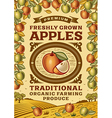 Retro apples poster vector image vector image