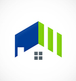 roof home realty abstract logo vector image vector image