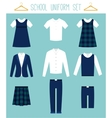 School Uniforms for Children Kids Clothes vector image vector image