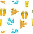 Sea beach pattern cartoon style vector image vector image