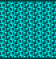 seamless abstract pattern with hexagons and cubes vector image