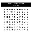 set game and entertainment icon with glyph vector image