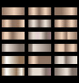 set of bronze foil texture gradation background vector image vector image