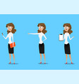 set of business woman character design vector image