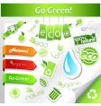 set of green ecology icons vector image vector image