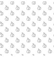 simple eco apple seamless pattern with various vector image