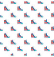 sneakers hipster shoes pattern seamless vector image vector image