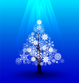 Snow Christmas tree under light vector image vector image