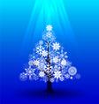 Snow Christmas tree under light vector image