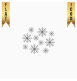 snowflakes flat icon vector image