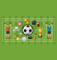 soccer game banner horizontal cartoon style vector image vector image