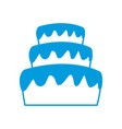 stacked wedding cake dessert with frosting food vector image vector image