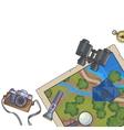 tourism banner set travel equipment vector image