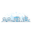town life - modern thin line design style vector image vector image