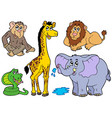 various african animals vector image