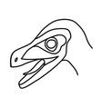 velociraptor icon doodle hand drawn or black vector image vector image