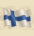 vintage flag finland vector image vector image