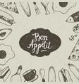 vintage food hand drawn vector image