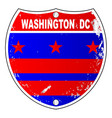 washington dc flag icons as interstate sign vector image vector image