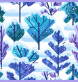 winter pattern with trees vector image vector image