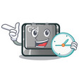 with clock ctrl button isolated in mascot vector image vector image