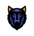 wolf logo design vector image vector image