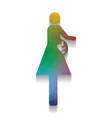 women and baby sign colorful icon with vector image vector image