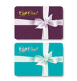 gift card set vector image