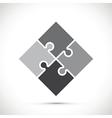 black jigsaw pieces vector image