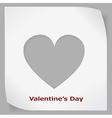 Valentines Day paper sticker vector image