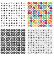 100 tea party icons set variant vector image