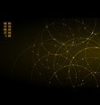 abstract gold neon circles with light overlapping vector image