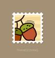 acorn stamp harvest thanksgiving vector image vector image
