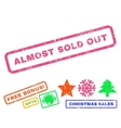 Almost Sold Out Rubber Stamp vector image vector image