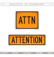attention attn warning signs vector image vector image