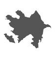 azerbaijan map black icon on white background vector image vector image