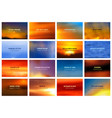 blurred bright sky and sea bokeh landscape vector image