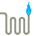 burning pipe vector image vector image