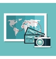 camera photography ticket travel vacation design vector image