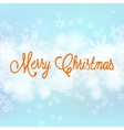 card with Chrismas lights and snow vector image vector image
