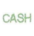 cash text of money typography dollars emblem vector image