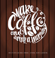 Chalkboard Poster Lettering Coffee vector image vector image