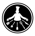 Chef icon vector image vector image