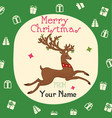 christmas kraft paper cards and gift tags set vector image vector image