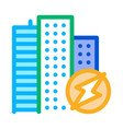 city energy icon outline vector image vector image